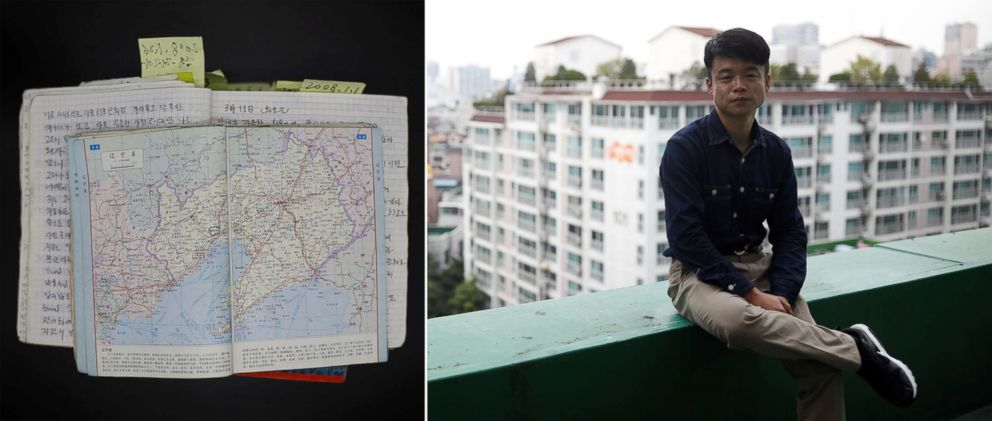 PHOTO: Baek Hwa-sung, 33, poses for a photograph in Seoul, South Korea, Sept. 30, 2017. Hwa-sung left Sinuiju, on the border with China, in 2003 and resettled in South Korea in 2008. He kept a diary as he defected.