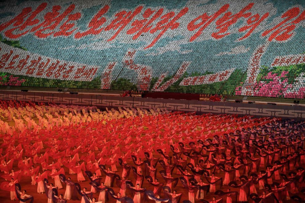 PHOTO: Participants perform during the Arirang Mass Games in Pyongyang, North Korea, Sept. 9, 2018.