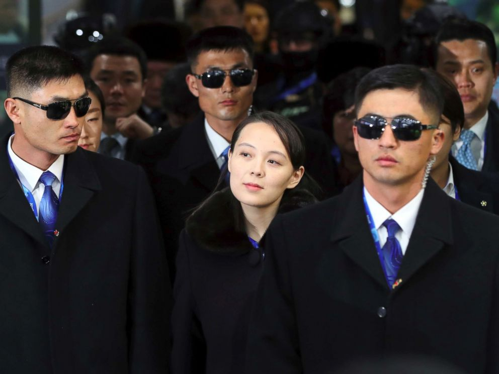 PHOTO: North Korean leader Kim Jong Uns sister Kim Yo Jong arrives at Jinbu station to attend the opening ceremony of the Pyeongchang 2018 Winter Olympic Games in Pyeongchang on Feb. 9, 2018.