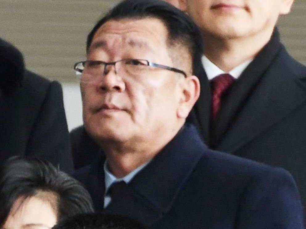 PHOTO: Choe Hwi, chairman of the North Korean national sports guidance committee, arrives at Incheon airport in South Korea on Feb. 9, 2018.