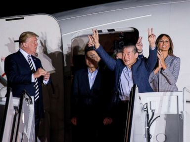 Seeing detainees from North Korea 'one of the greatest joys of my life,' Pence says