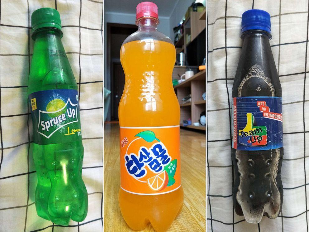 PHOTO: North Korean sodas purchased in Pyongyang.