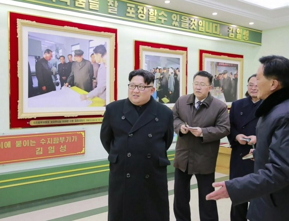 PHOTO: A Korean Central Television anchorperson spent nine minutes reporting on North Korean leader Kim Jong Uns visit to a medicine factory.