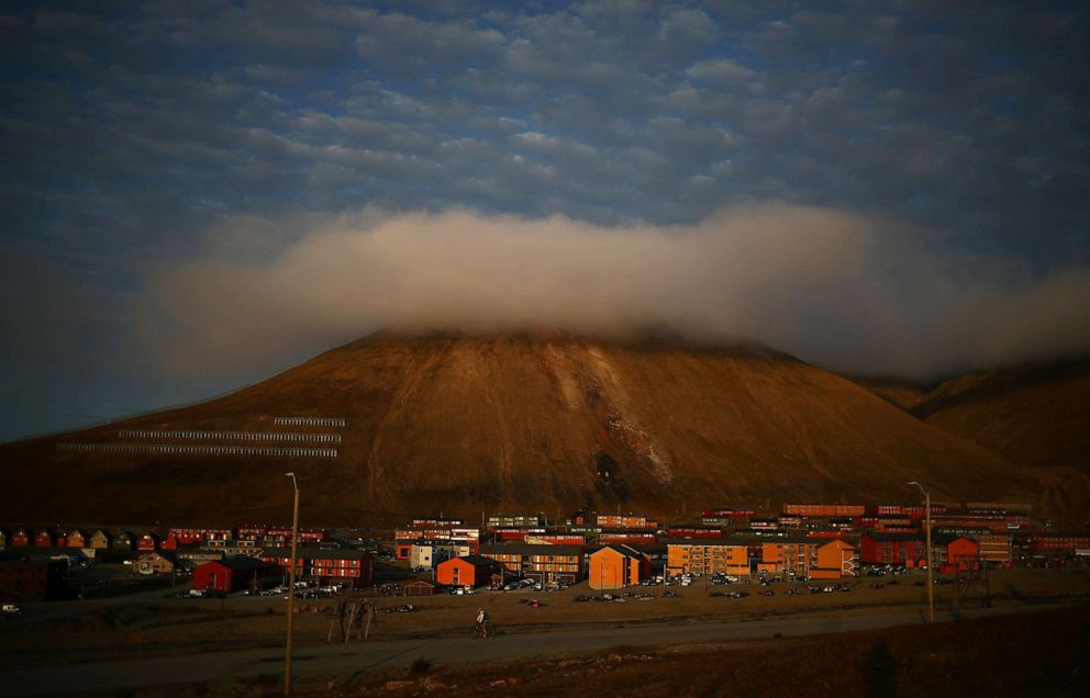 PHOTO: The town of Longyearbyen is seen in the late evening light in Svalbard, Norway, Aug. 4, 2019.