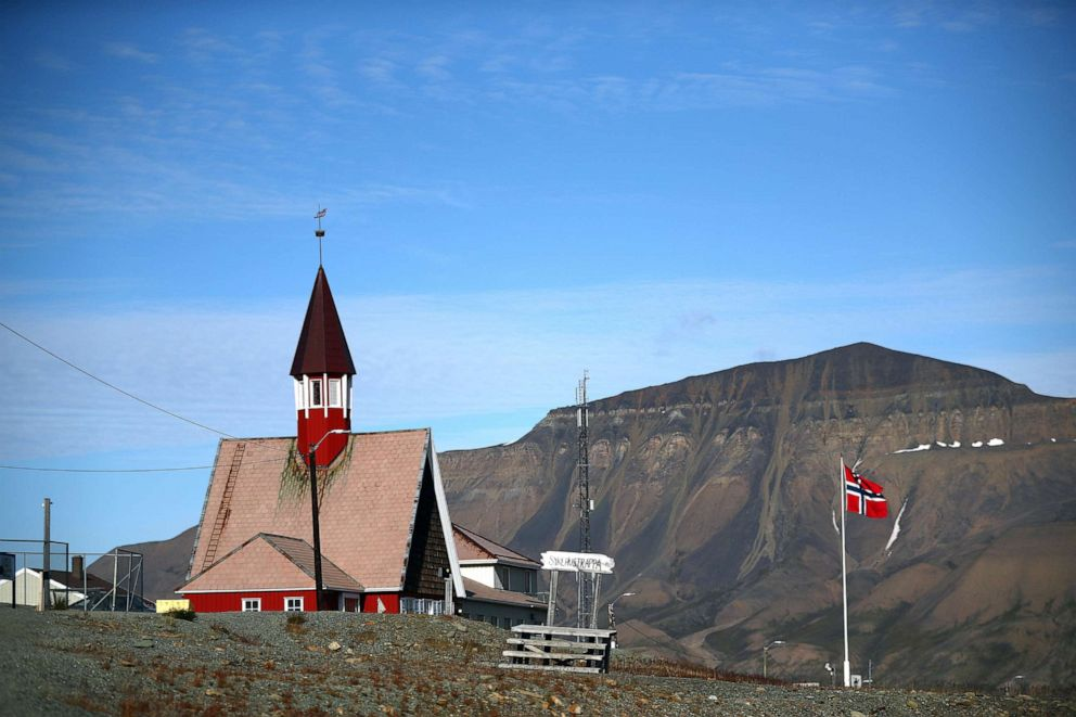 PHOTO: The Svalbard Church, which claims to be the worlds northernmost church, stands in the town of Longyearbyen in Svalbard, Norway, Aug. 3, 2019.