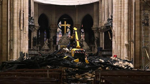 Notre Dame to hold 1st mass since April blaze