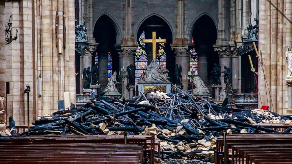 Image result for france notre dame cathedral fire