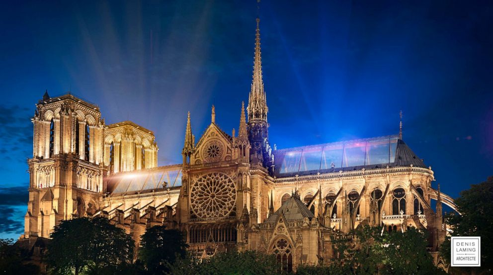 PHOTO: Architect Denis Laming calls his Notre Dame design, Cathedral of Light.