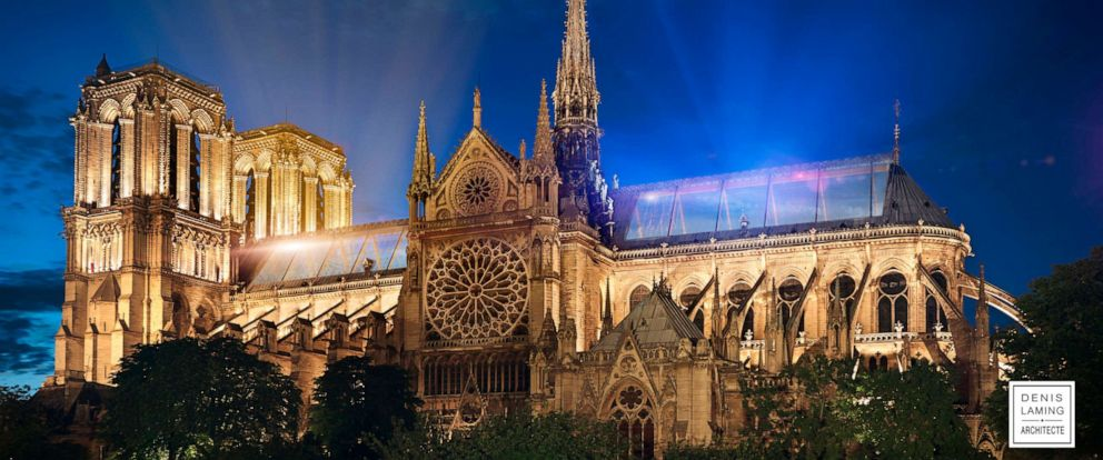 """PHOTO: Architect Denis Laming calls his Notre Dame design, """"Cathedral of Light."""""""