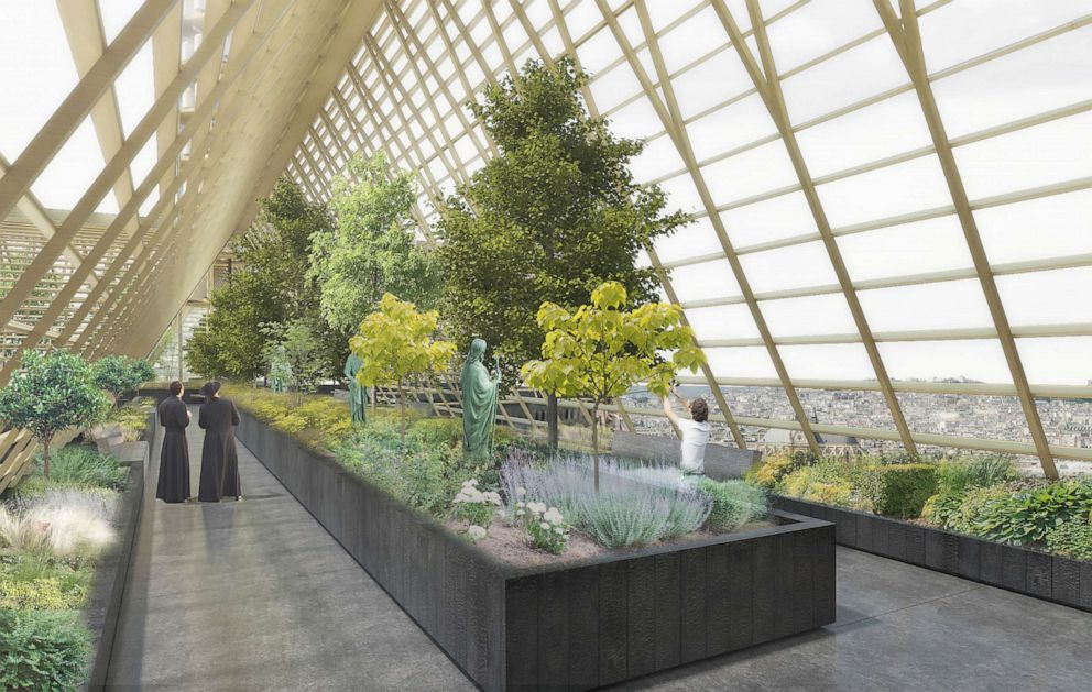 PHOTO: NAB Design founder Nicolas Abdelkaders proposal would turn Notre Dames roof into a greenhouse dedicated to training the unemployed in urban agriculture, horticulture and permaculture.
