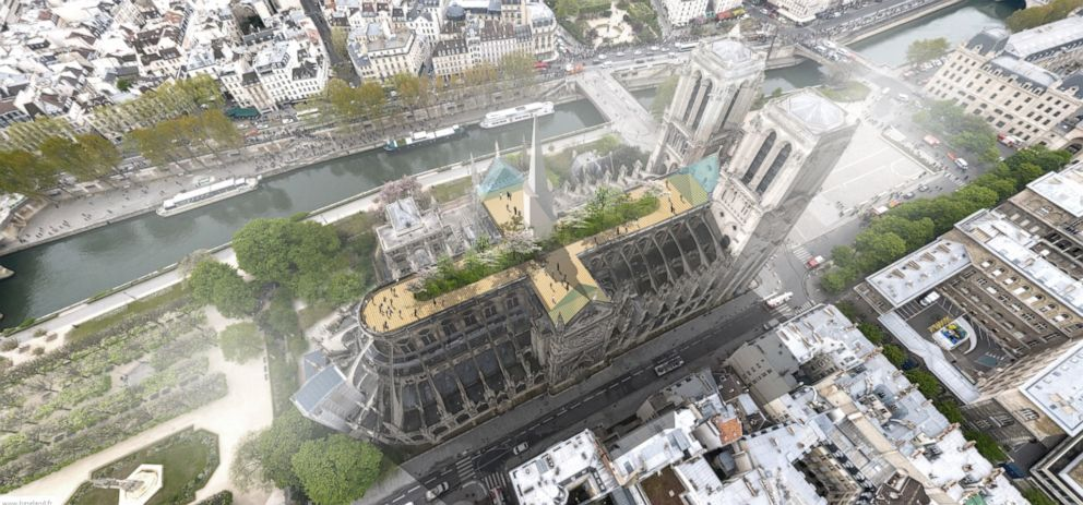 PHOTO: Architect Clement Willemin says the goal of his proposal for the Notre Dame design was, more to feed the debate than anything.