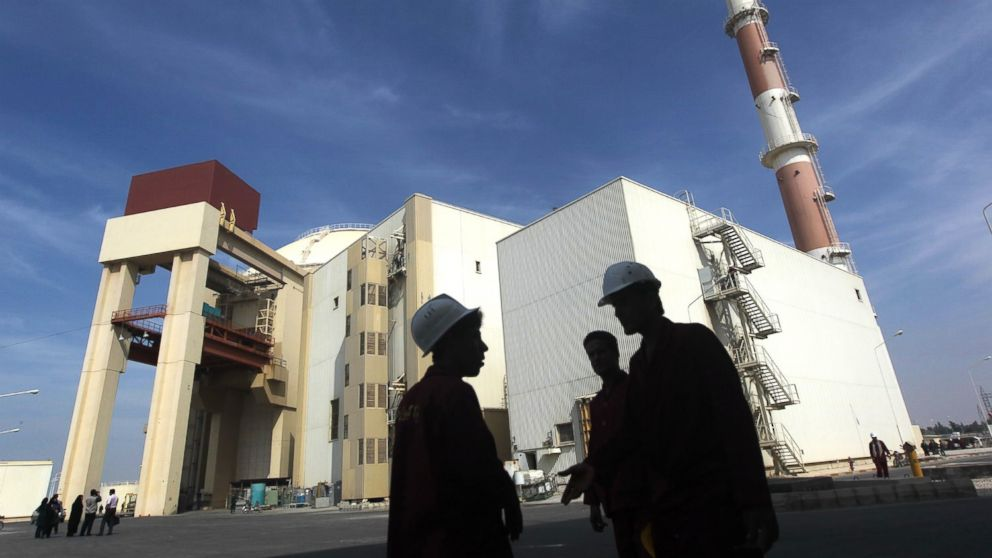The reactor building at the Russian-built Bushehr nuclear power plant in southern Iran, Oct. 26, 2010.