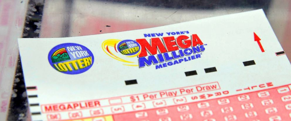 PHOTO: A Mega Millions lottery ticket is seen in New York in this July 1, 2016 file photo.