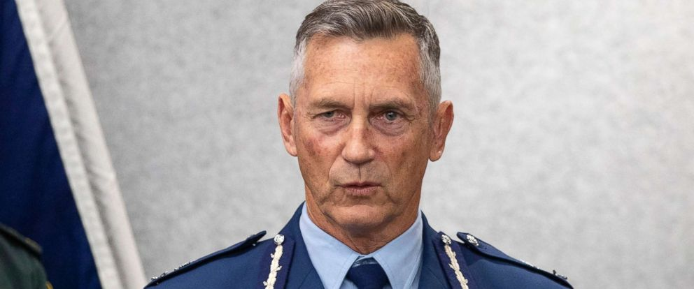 PHOTO: New Zealand Police Commissioner Mike Bush addresses a press conference in Christchurch, New Zealand, March 16, 2019.