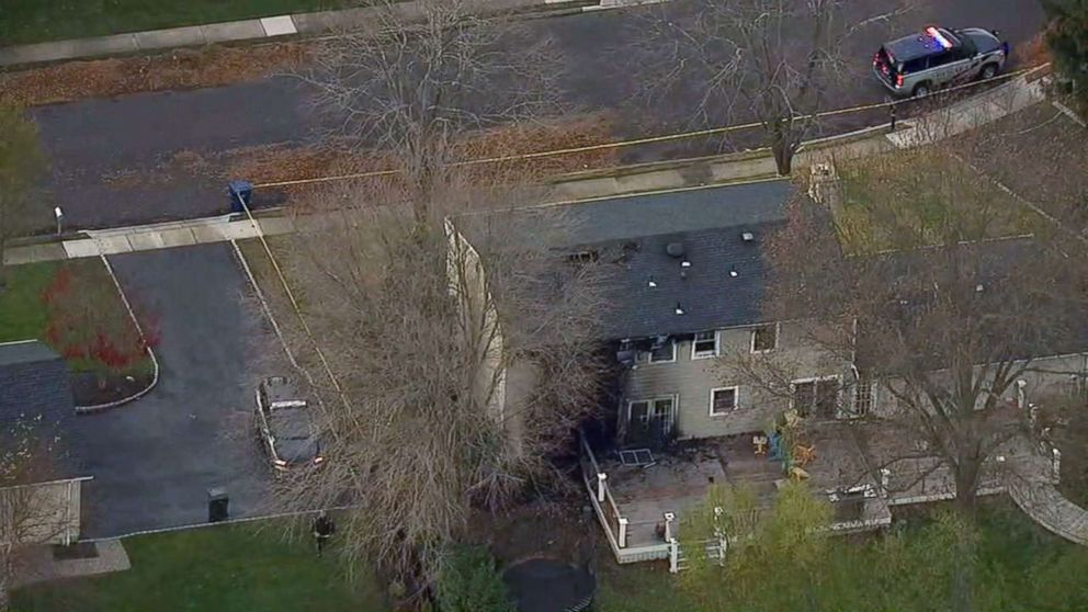 PHOTO: An image made from aerial footage shows a home that was burned in a fire on Nov. 20, 2018 in Ocean Township, N.J.
