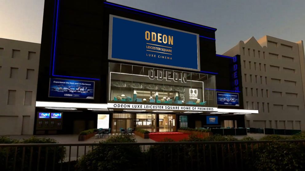 An artist's rendition of London's ODEON Leicester Square, which is to reopen this Christmas 2018 following an 11 month, multi million pound Luxe refurbishment.