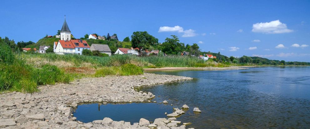 PHOTO: The German-Polish border river Oder is seen here, July 23, 2018.