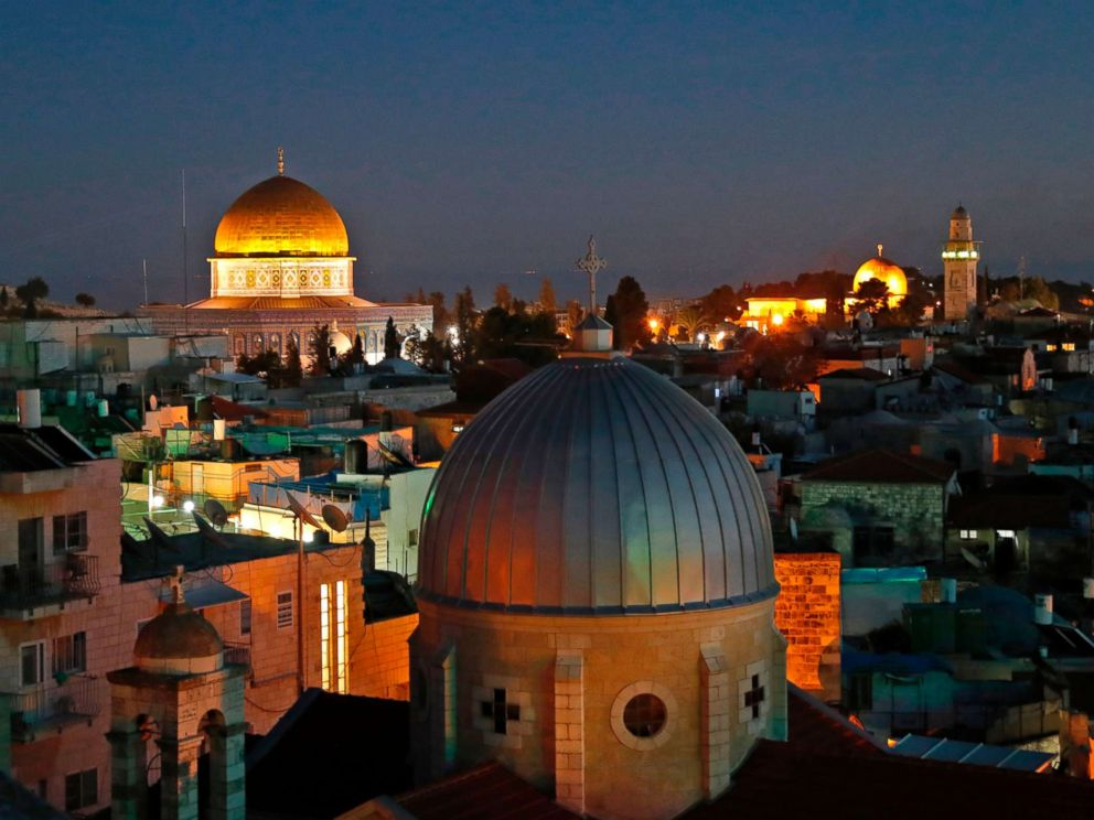 PHOTO: A picture taken on Dec. 4, 2017 shows a general view of the skyline of the old city of Jerusalem, with the Dome of the Rock in the Aqsa Compund.
