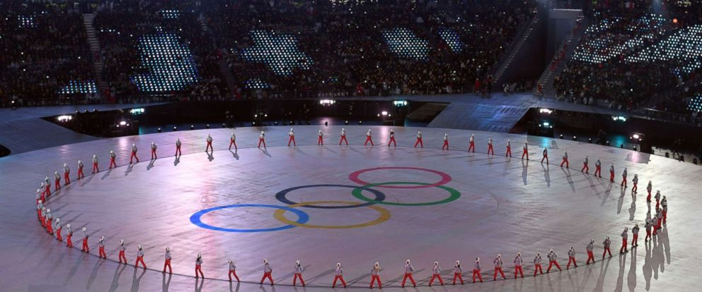 PHOTO: Performers appear during the opening ceremonies at the 2018 Winter Olympics at the Pyeongchang Olympic Stadium in Pyeongchang, South Korea Feb. 9, 2018.