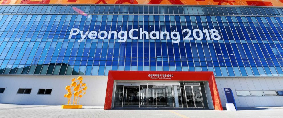 PHOTO: The Olympic Family Entrance to the Olympic Stadium in Pyeongchang, South Korea, Feb. 7, 2018.