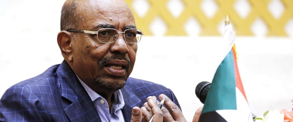 PHOTO: In this file photo taken on March 02, 2017, Sudanese President Omar al-Bashir gives a press conference at the presidential palace in the capital Khartoum.