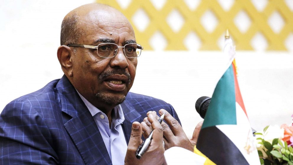 In this file photo taken on March 02, 2017, Sudanese President Omar al-Bashir gives a press conference at the presidential palace in the capital Khartoum.
