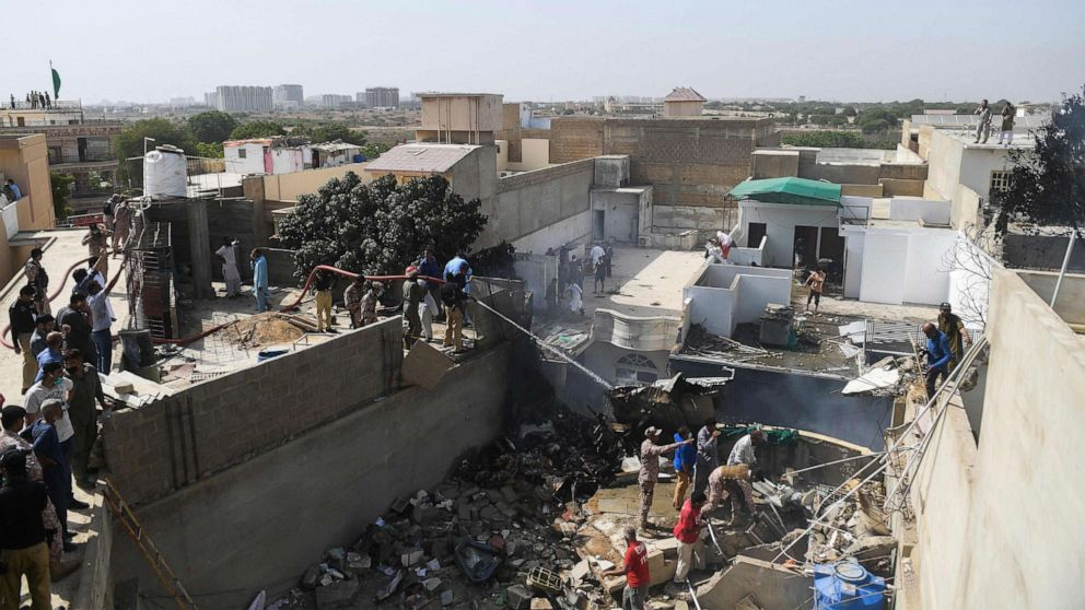 At Least 1 Survivor In Pakistani Airliner Crash Official Abc News