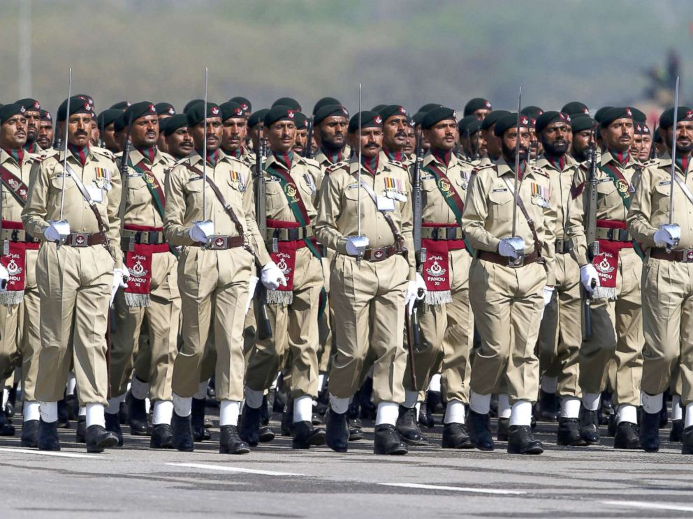 PHOTO: Members of the Pakistani Armed Forces attend a military parade to mark Pakistans National Day in Islamabad, March 23, 2018.