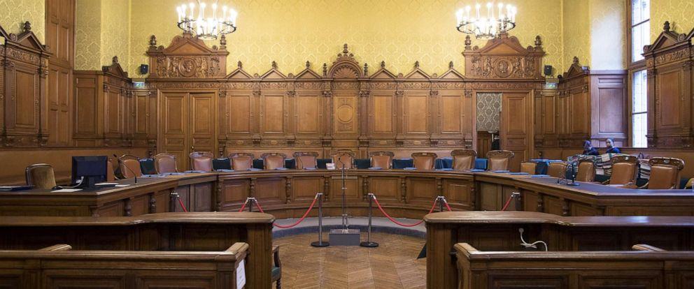 PHOTO: A courtroom, at the Palais de Justice in Paris, France, Dec. 12, 2016.
