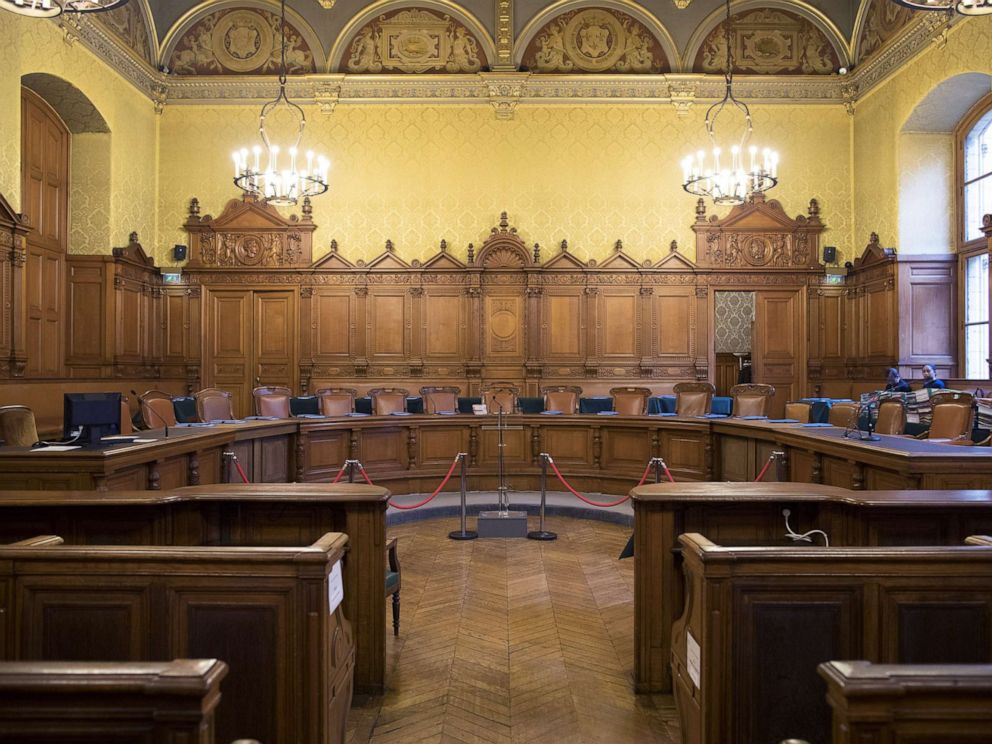 PHOTO: A courtroom, at the Palais de Justice in Paris, France, Dec. 12, 2016.