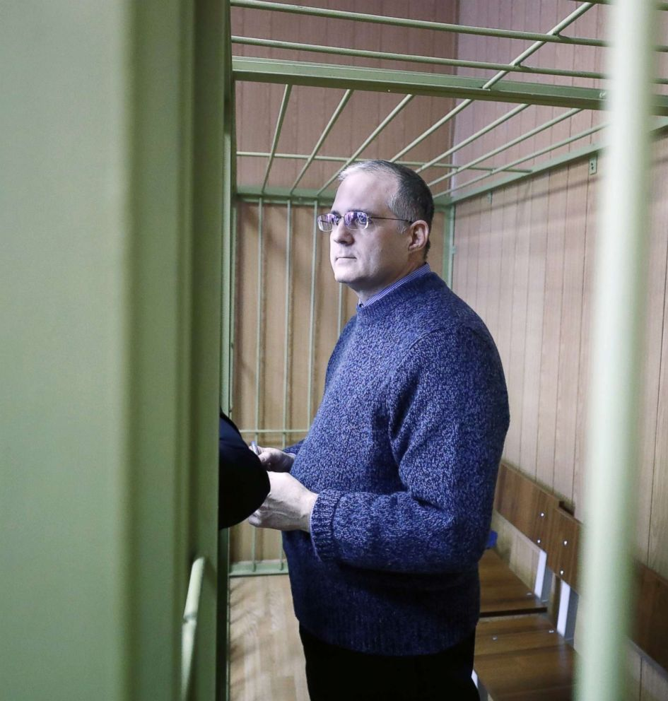 PHOTO: Suspected spy Paul Whelan attends a hearing of the extension his arrest at the Lefortovo District Court in Moscow, Feb. 22, 2019