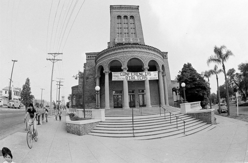 PHOTO: Peoples Temple in downtown Los Angeles before being forced to close its doors, Nov. 20, 1978.