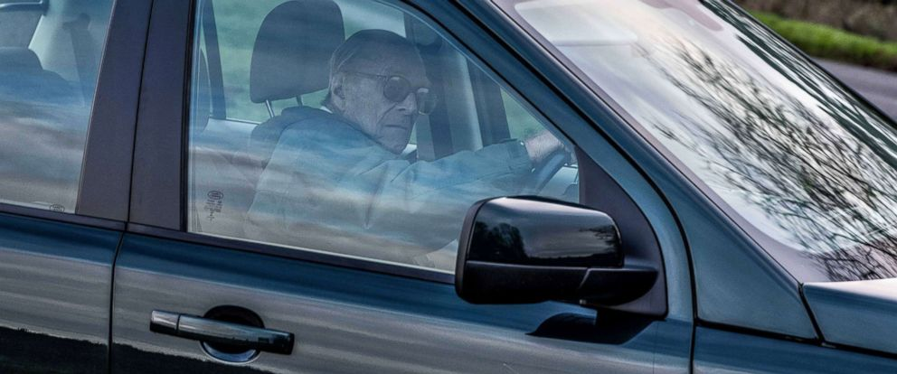 PHOTO: Prince Philip drives his Land Rover on the Sandringham Estate Norfolk in Britain, Jan. 20, 2019, 2 days after his crash.