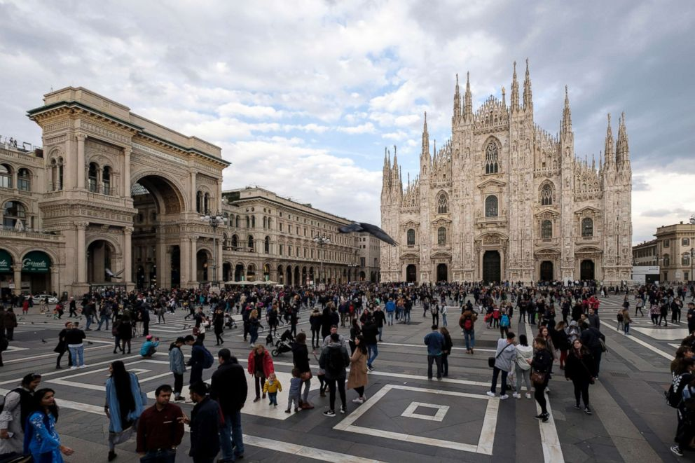PHOTO: Piazza del Duomo in Milan, dominated by Milan Cathedral, is pictured in Milan, Italy, April 1, 2018.