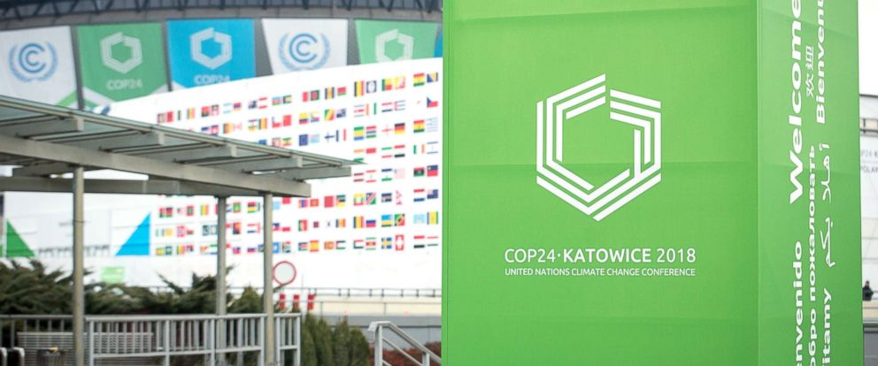 PHOTO: The International Congress Centre is pictured during the UN Climate Change Conference in Silesia, Poland, Dec. 03, 2018.