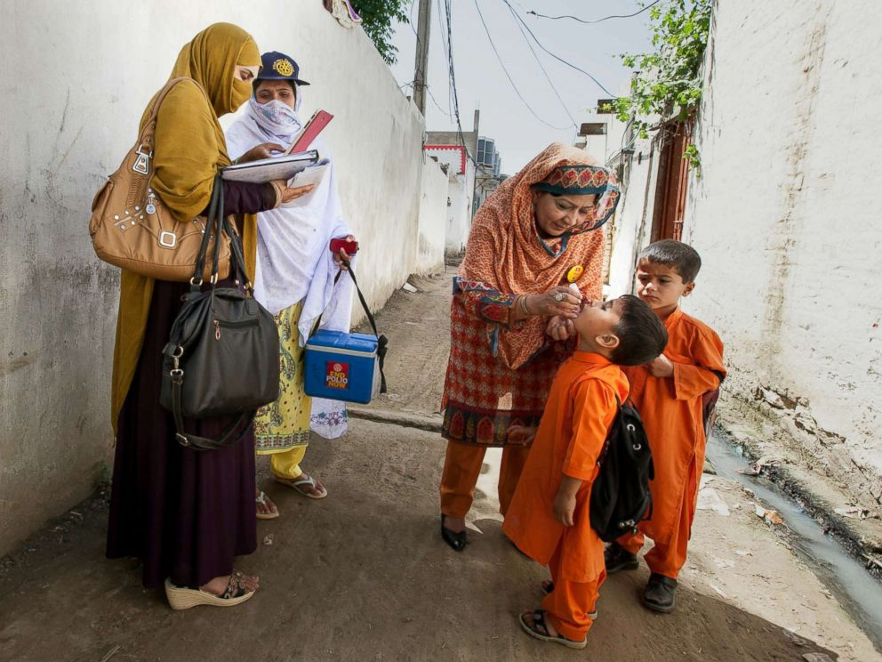 PHOTO: Polio vaccines are administered to some children.  5 major headlines to start the week polio vaccine pakistan 01 ht jef 180802 hpMain 4x3 992