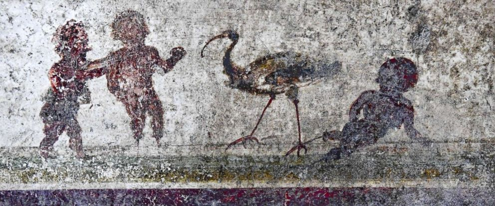 PHOTO: Part of a fresco at domus delle Nozze dArgento in Pompeii, Italy, May 17, 2018.