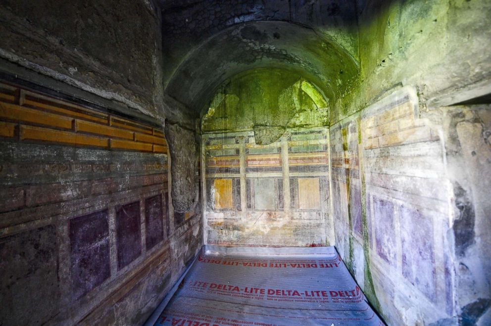 One of the rooms of the Domus Nozze d'Argento (room of the Silver Wedding) in Pompeii, Italy, May 17, 2018.