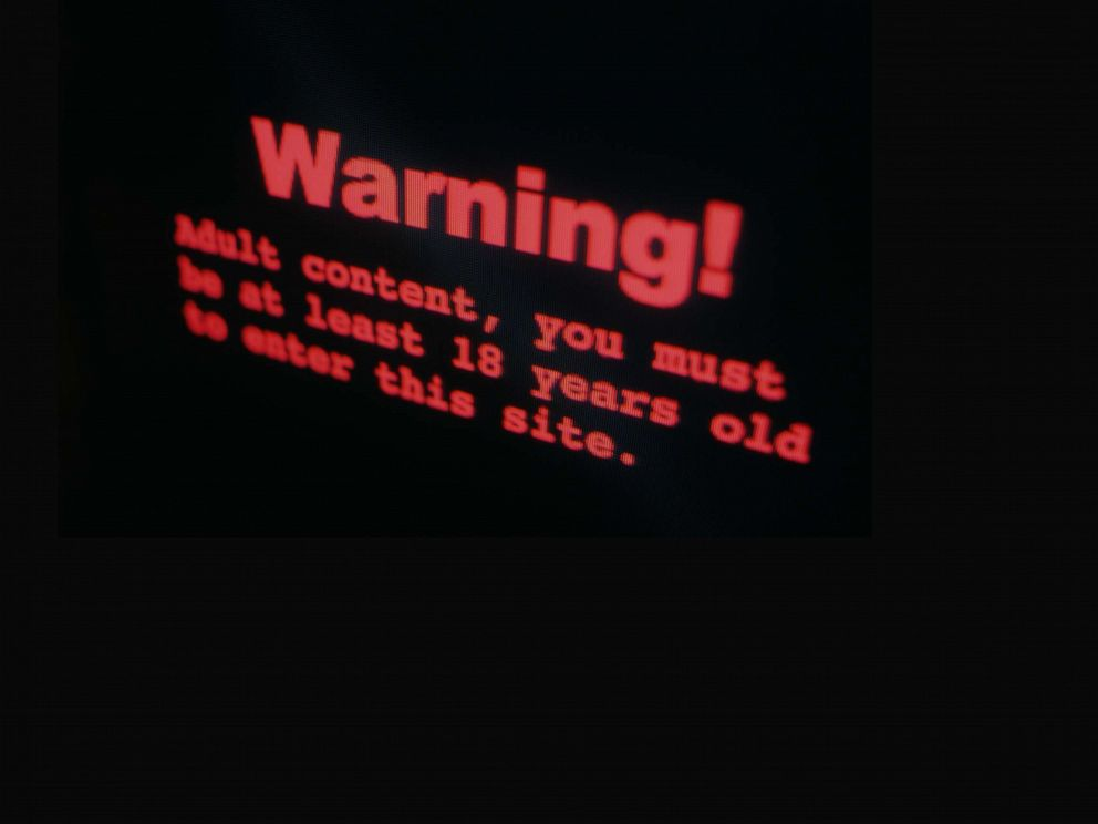 PHOTO: A stock photo of a warning on a porn site.