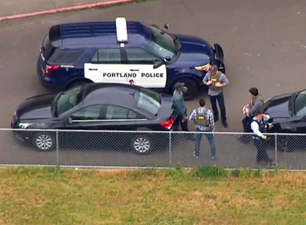 PHOTO: Officers responded to a call regarding a man armed with a gun near Parkrose High School, Portland, Ore.