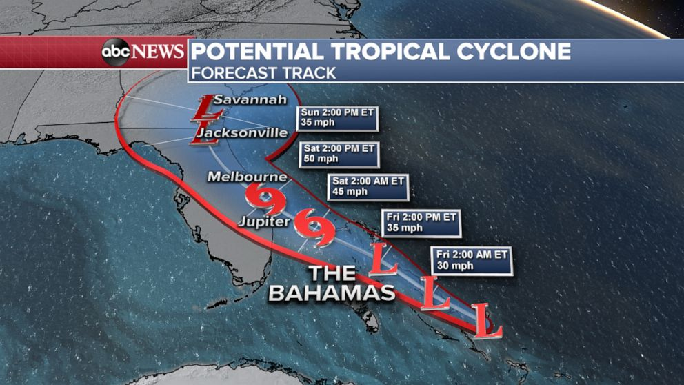 PHOTO: A potential tropical cyclone is threatening to bring tropical storm conditions to the northwestern Bahamas.