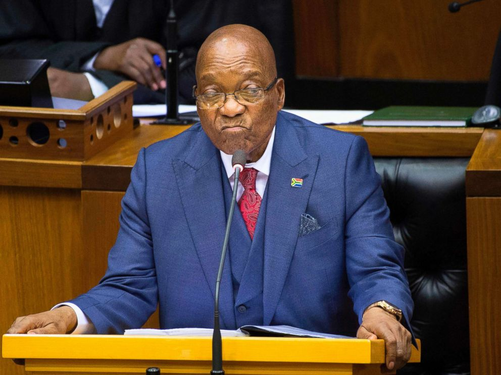 PHOTO: South African President Jacob Zuma answers questions during the last presidential answer session, Nov. 2, 2017 in the South African Parliament in Cape Town.