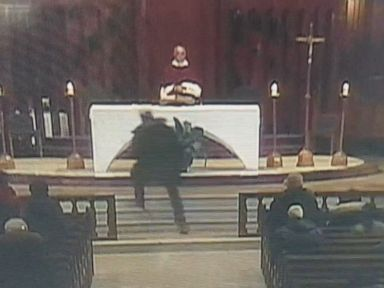 Priest stabbed during live-streamed church service before stunned parishioners