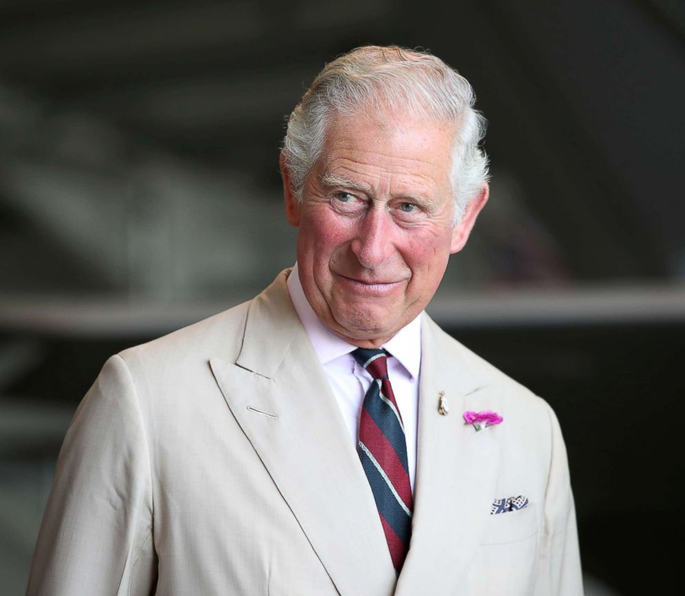 PHOTO: Britains Prince Charles visits RAF base in Norfolk, England, July 27, 2018.