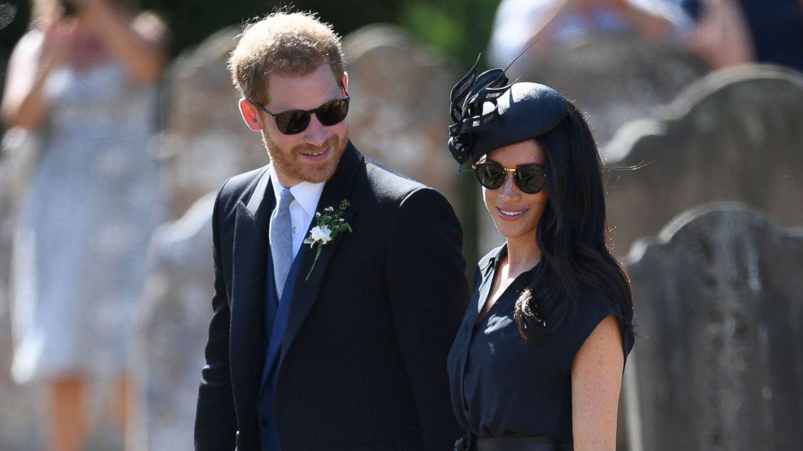 Prince Harry Ss Meghan Attend His Childhood Friend S Wedding Abc News
