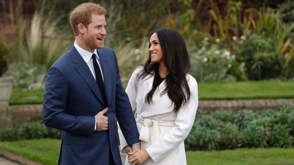 2541e9dd63 Prince Harry and Meghan Markle pose for photographers in the grounds of  Kensington Palace in London