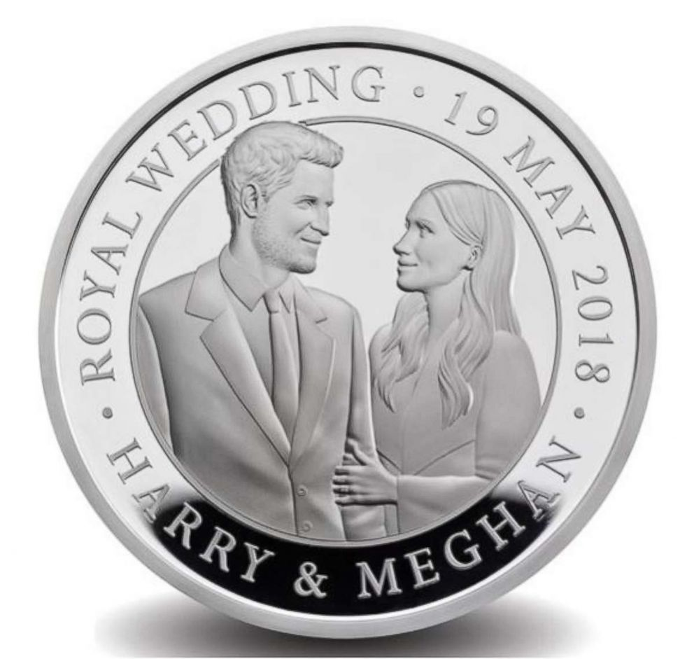 PHOTO: The Royal Mint is delighted to release this special commemorative coin marking the royal wedding between Prince Harry and Meghan Markle.