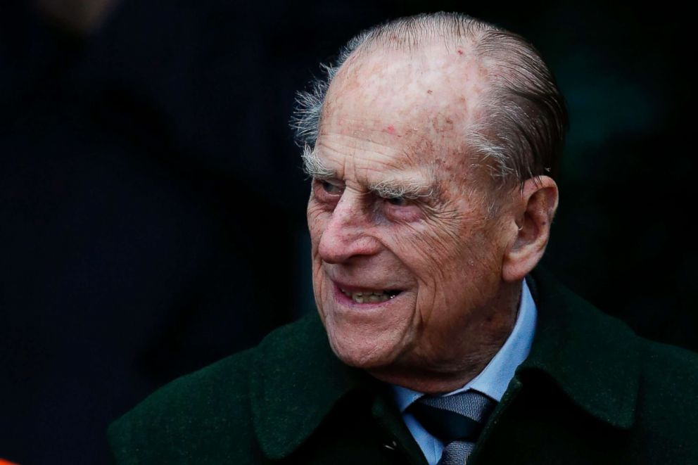 PHOTO: Britains Prince Philip, Duke of Edinburgh leaves after attending Royal Familys traditional Christmas Day church service at St Mary Magdalene Church in Sandringham, England, Dec. 25, 2017.