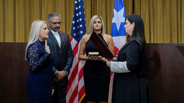 Puerto Rico swears in new governor Wanda Vazquez, marking 3rd leadership change in a week