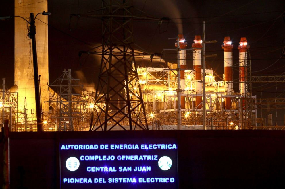 PHOTO: Central Palo Seco power station of the Puerto Rico Electric Power Authority (PREPA) is seen in San Juan, Puerto Rico, Jan. 22, 2018.